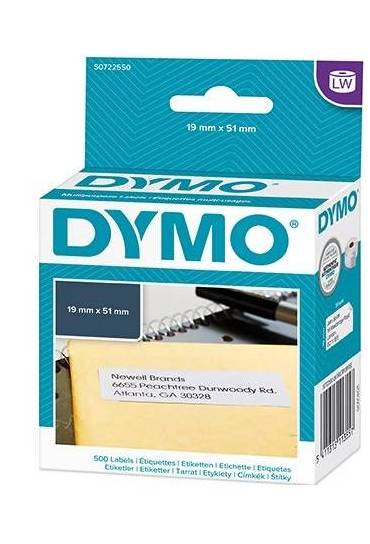 Rollo 500 Etiquetas Dymo  19x51mm S0722550