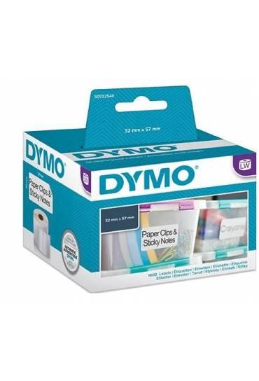 Rollo 1000 Etiquetas Dymo   57x32mm S0722540
