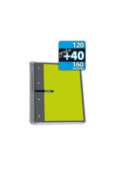 Cuaderno Enri A4+ cuadricula 5x5 160h (120+40)