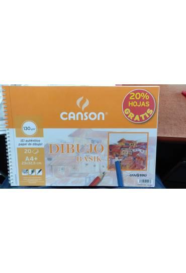 Block dibujo Canson liso A4+ 20h micro 130 grm