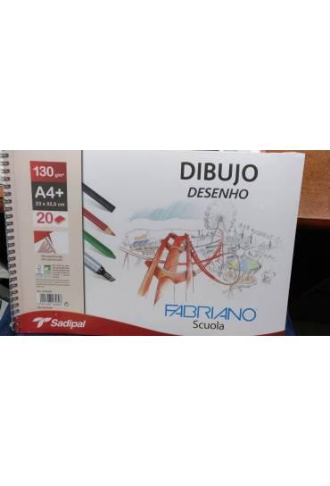 Bloc dibujo Fabriano 20h con recuadro A4 micro