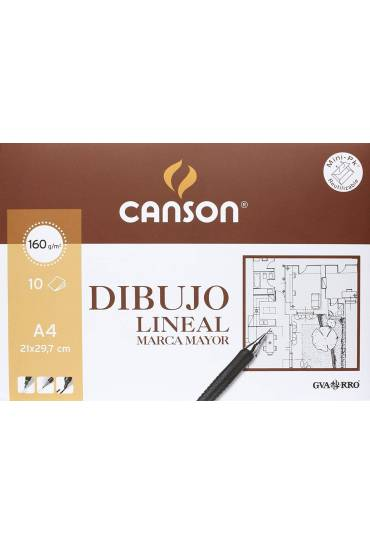 Pack 10 laminas dibujo marca mayor A4 160g Canson