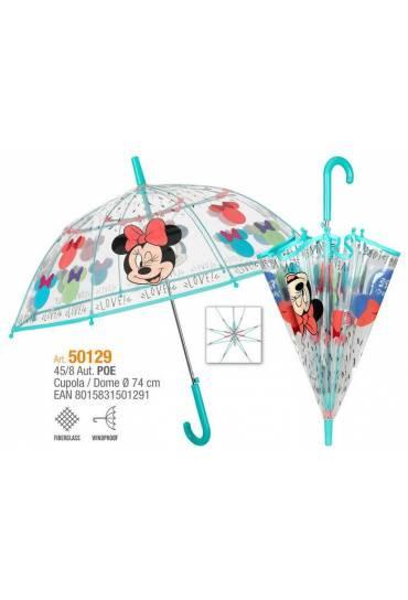 Paraguas automatico 45/8 Minnie transparente