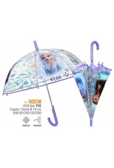 Paraguas automatico 45/8 Frozen II transparente