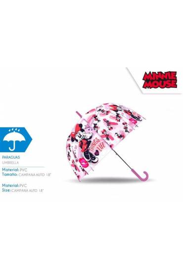 Paraguas automatico 45/8 Dome Minnie transparente