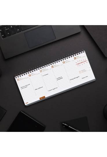 Agenda Finocam planificador S/V+Notas gris