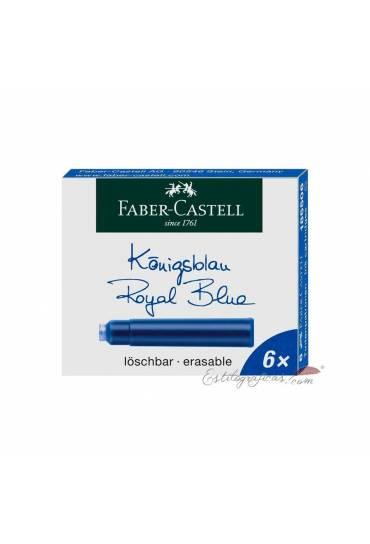 Caja 6 cartuchos pluma Faber Castell